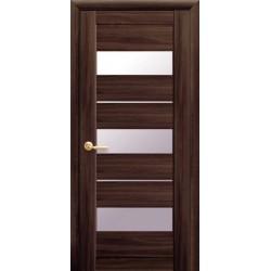 Двери Новый стиль Лилу Орех 3D (стекло сатин)