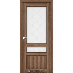 Двери Корфад CL-05 Дуб грей, стекло сатин белый+М1
