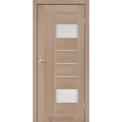Двери Leador COMO Дуб мокко - сатин белый