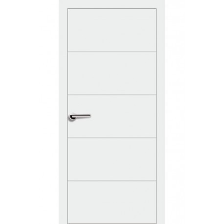 Двери Брама 7.2 ПГ - Белая эмаль