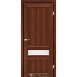 Двери Корфад CL-07 Орех, стекло сатин белый+М1