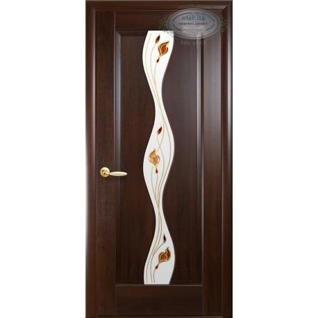 """Дверь """"Волна"""" Каштан"""