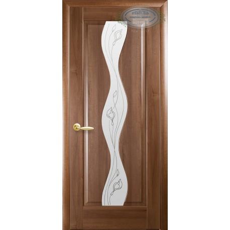 """Дверь """"Волна"""" Золотая ольха"""