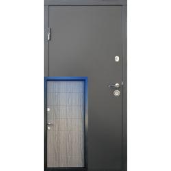 Входные двери Qdoors Горизонталь металл/МДФ Стандарт