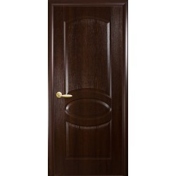 """Дверь межкомнатная глухая """"Овал"""" - Каштан"""