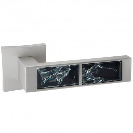 Ручка 203-13E - перламутровый никель/черное стекло