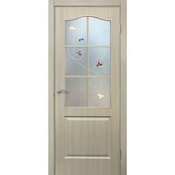 Дверь Классик ПВХ СС+КР дуб беленый