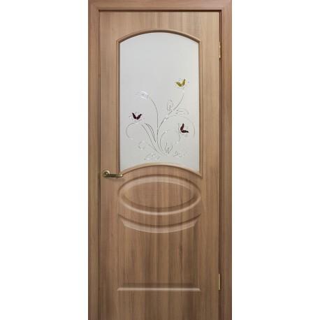 Дверь Лика ПВХ СС+КР дуб золотой