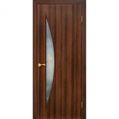 Двери Парус ПВХ СС+КР орех