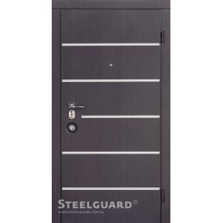 Входные двери Steelguard AV-5 (Венге темный/Белый шелк, 300)