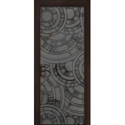 Bogemia 01 венге/стекло крашенное с рисунком пескоструй