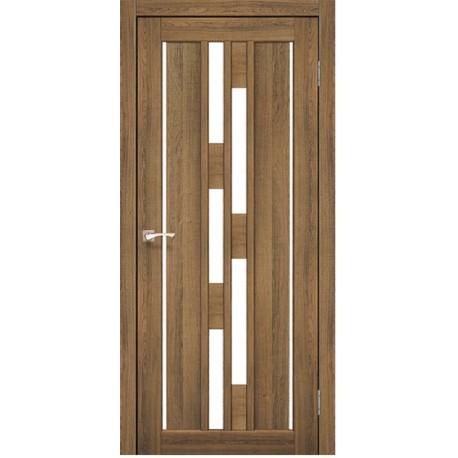 Дверь VND-05 Дуб браш +стекло сатин белый