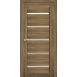 Дверь PR-02 Дуб браш + Стекло сатин белый