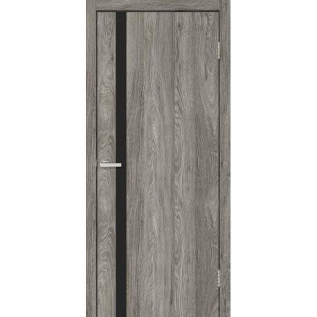 Двери Сити дуб Денвер с черным стеклом